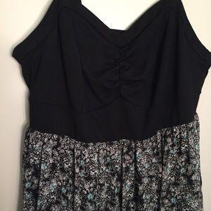 torrid Dresses - Torrid black with print hi-low dress